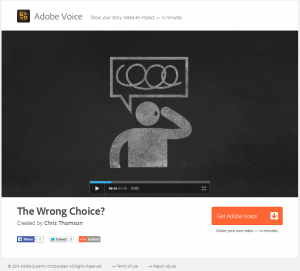Adobe Voice published video