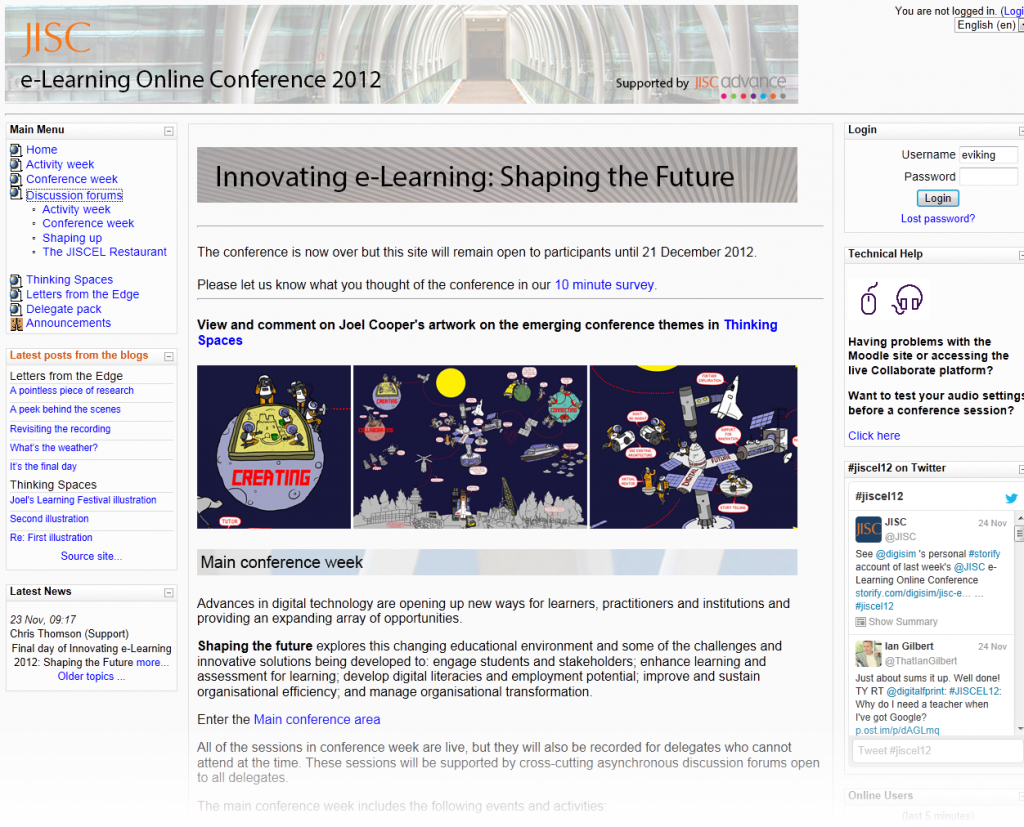 JISC e-Learning Online Conference Homepage
