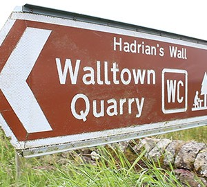 Walltown Quarry road sign