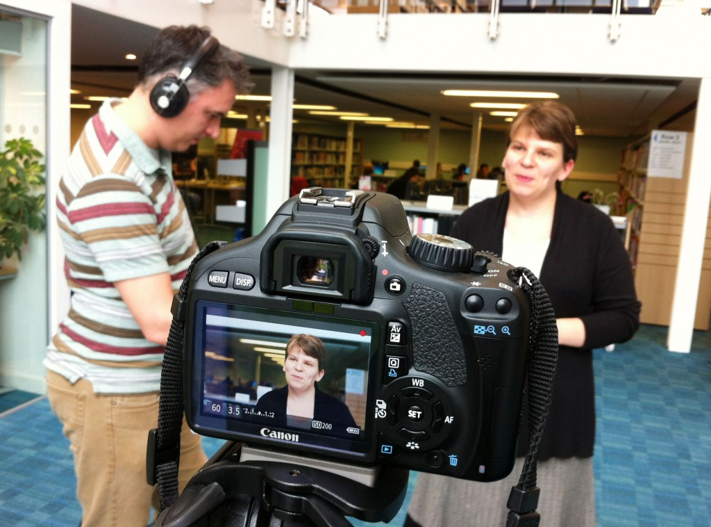 Filming at Borders College