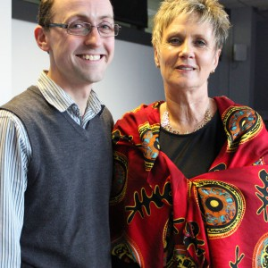 Leona with Chris Thomson, the lead trainer of the workshop