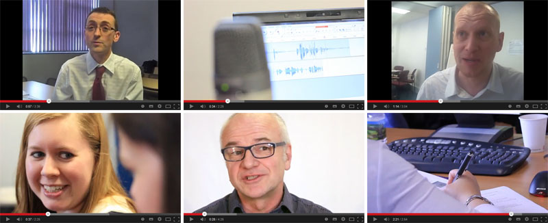 Examples of Netskills' video work over the past four years.